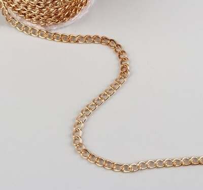 Цепочка для сумки, 9*6мм, цвет золото(метр)