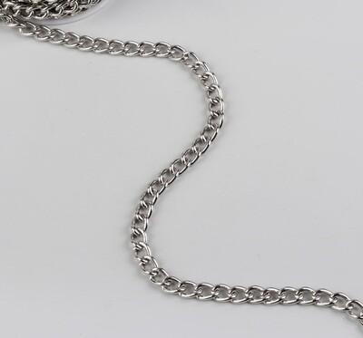 Цепочка для сумки, 7,5*11,2мм, цвет серебро(метр)
