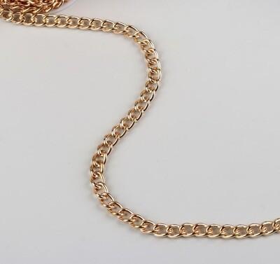 Цепочка для сумки, 7,5*11,2мм, цвет золото(метр)