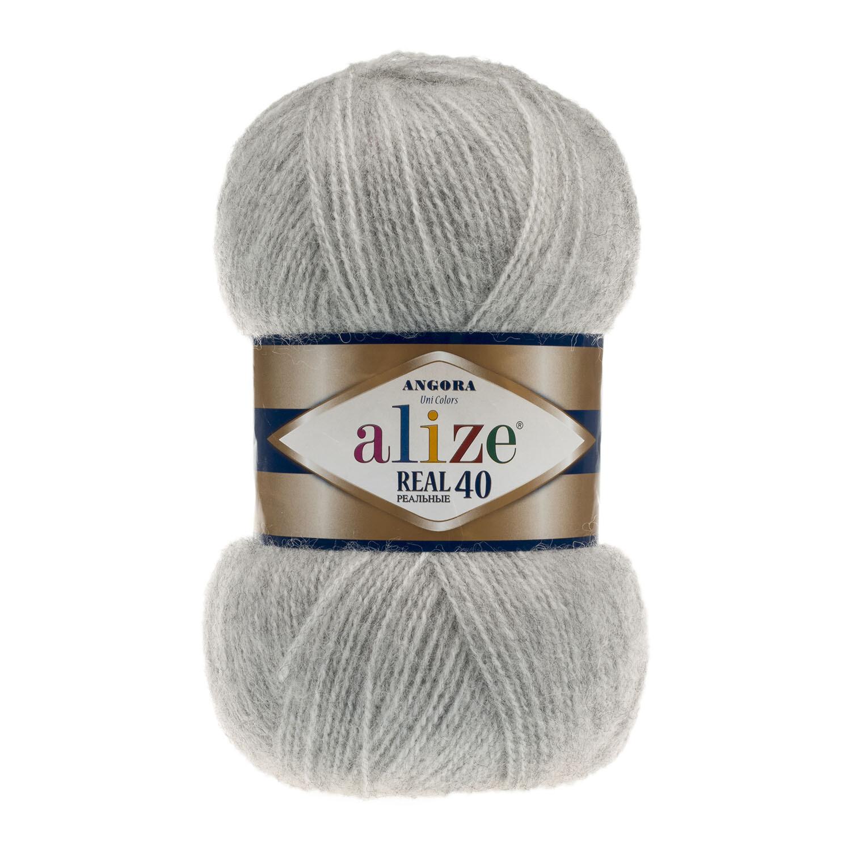ANGORA REAL 40 Серый меланж №614