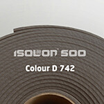 Изолон ППЭ 2 мм, ширина 75 см Цвет: Серый (D742)