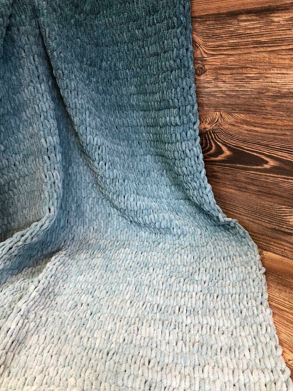 Детский плюшевый плед. Цвет: морская волна