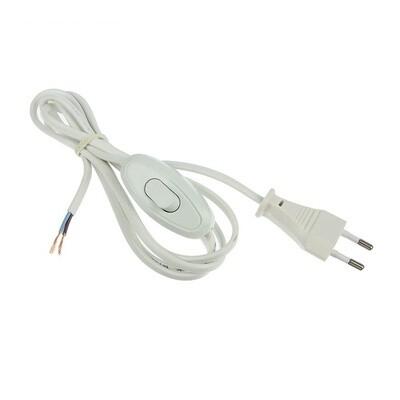 Шнур с проходным выключателем, 1,7м, белый