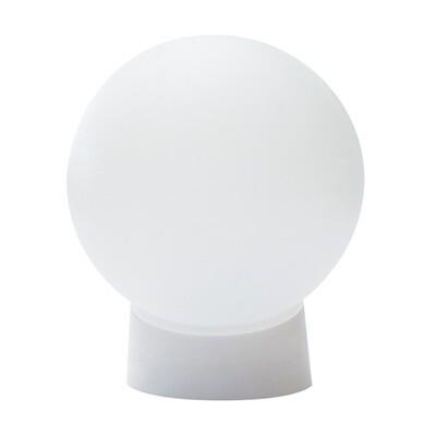 Светильник ШАР, белый, пластик, прямое основание