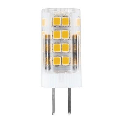 Лампа светодиодная (кукуруза) G4, 5Вт, 230В, 4000К, холодный белый свет, прозрачная