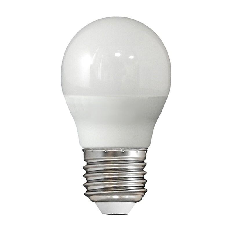 Лампа светодиодная LED E27, шар, 6Вт, 230В, холодный белый свет