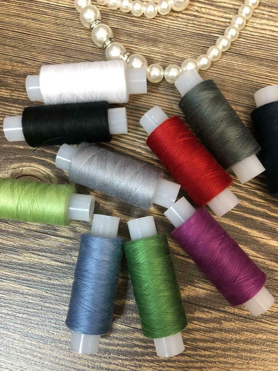 Набор ниток швейных, цветные 100 Экстра
