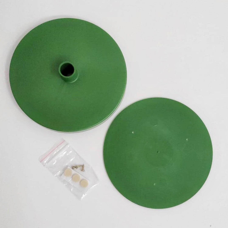 Подставка D150мм для изготовления настольного светильника. Зеленый