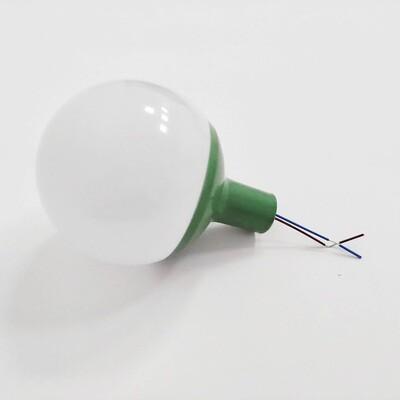 Комплект для изготовления декоративного светильника D=80мм. Зеленый