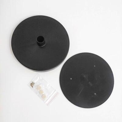 Подставка D150мм для изготовления настольного светильника. Черный
