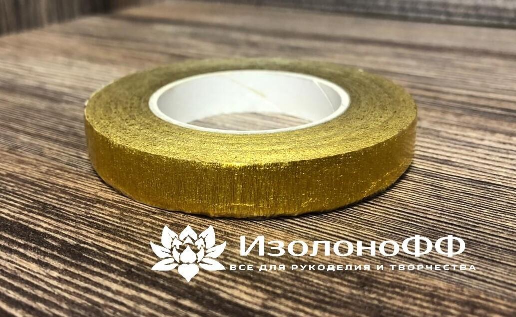 Тейп-лента 12мм, золото