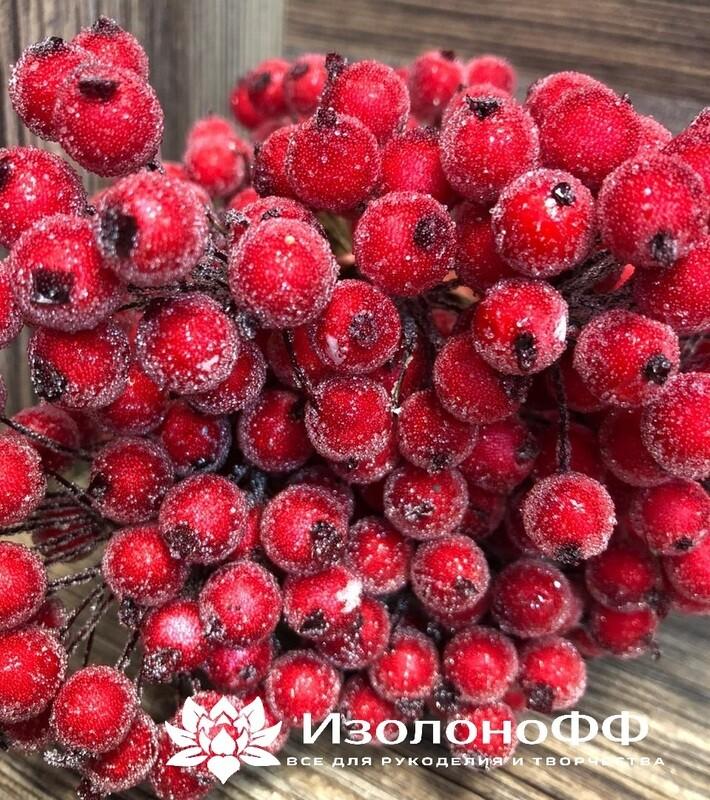 Ягоды декоративные на проволоке (Красные)