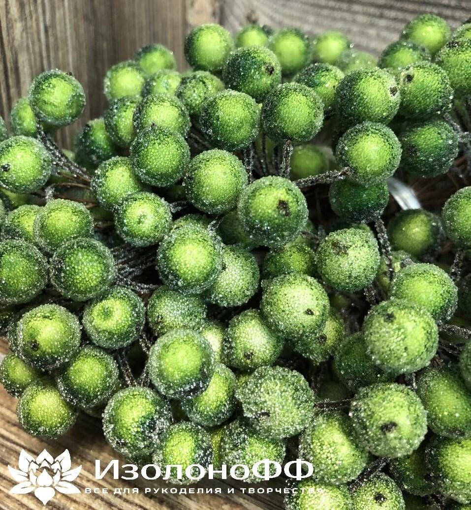 Ягоды декоративные на проволоке (Зеленые)
