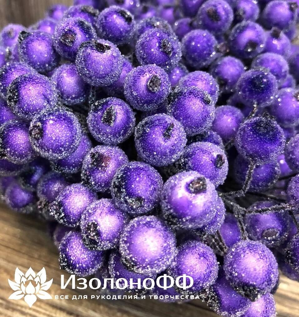 Ягоды декоративные на проволоке (Фиолетовые)