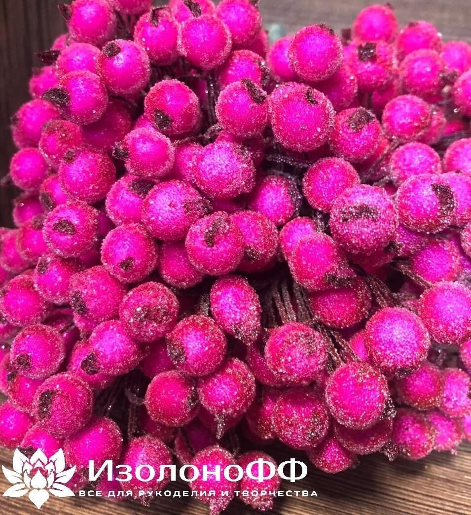 Ягоды декоративные на проволоке (Ярко-розовые)