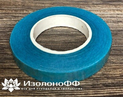 Тейп-лента 12мм, голубая