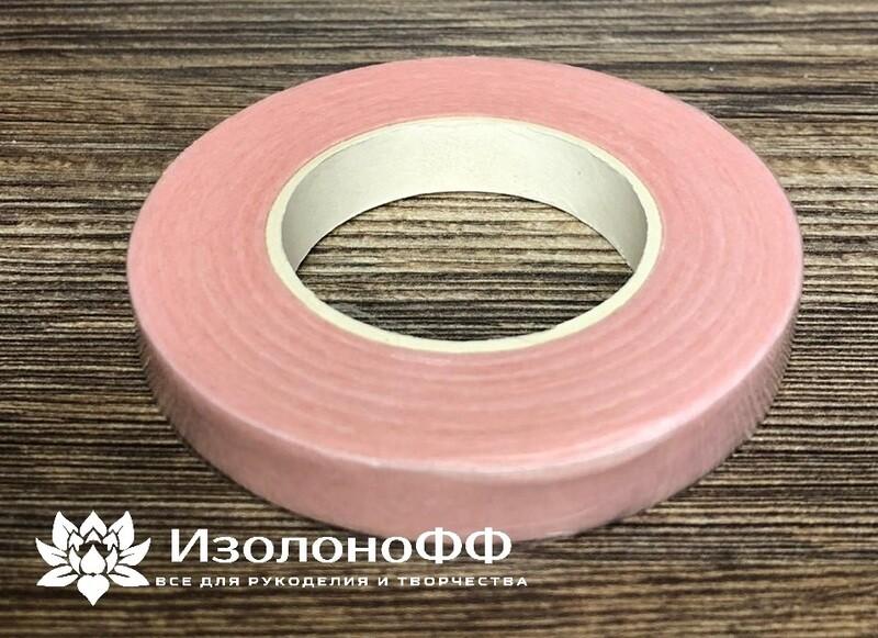 Тейп-лента 12мм, светло-розовая