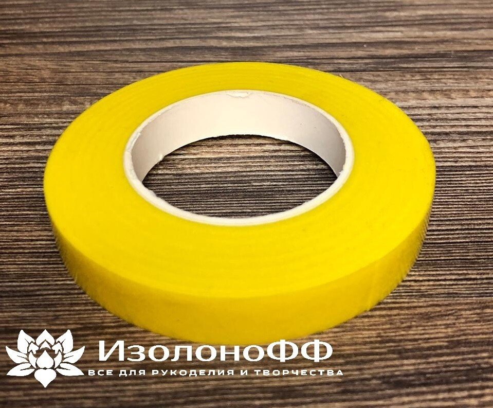 Тейп-лента 12мм, желтая