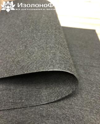 Фетр 20х30 см 1мм жесткий, черный