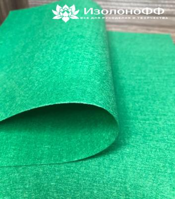 Фетр 20х30 см 1мм жесткий, зеленый