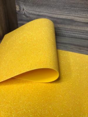 Фоамиран глиттерный 2мм 20х30см №Н12(желтый)