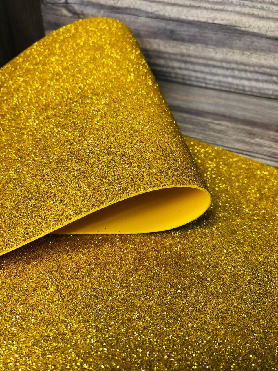 Фоамиран глиттерный 2мм 20х30см №004(золото)