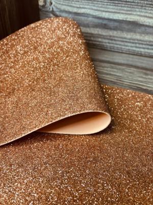 Фоамиран глиттерный 2мм 20х30см №027(св.коричневый)