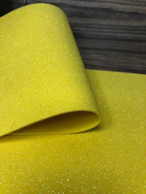 Фоамиран глиттерный 2мм 20х30см №07(лимонный)