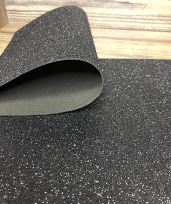 Фоамиран глиттерный 2мм 20х30см №015(черный)