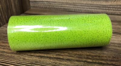 Фатин с блестками на втулке, ширина 15 см, Салатовый