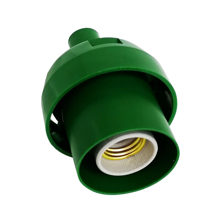 Основание с переходником на трубу D20мм под плафон для изготовления ростовых цветов. Зеленый