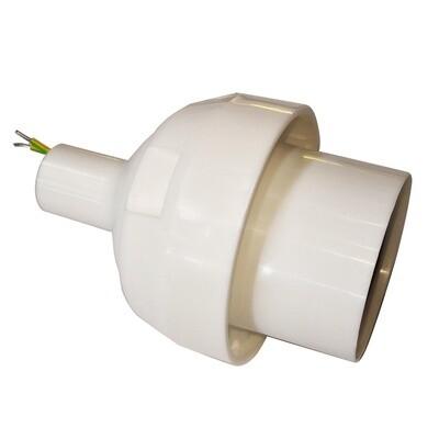 Основание с переходником на трубу D20мм под плафон для изготовления ростовых цветов. Белый