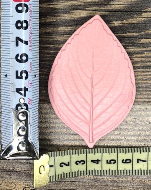 Молд: Лист роза 8см*5,5см