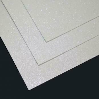 Фоамиран Мерцающий,толщина 1.5мм, 60x70см. Белый с голубым блеском