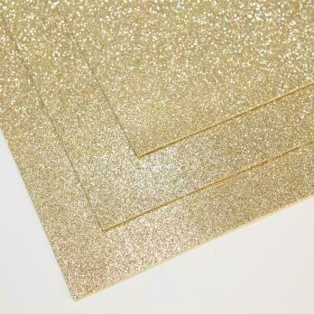 Фоамиран глиттерный,толщина 1.5мм, 60x70см. Белое золото