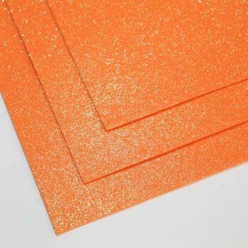 Фоамиран Мерцающий, толщина 1.5мм, 60x70см. Оранжевый