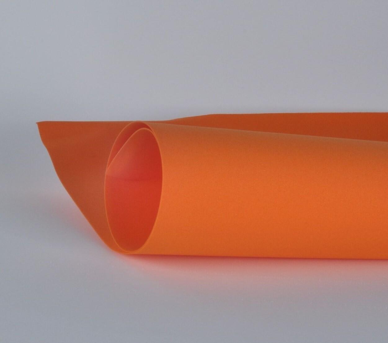 Фоамиран 1мм, Оранжевый, № 125 (60х70см)