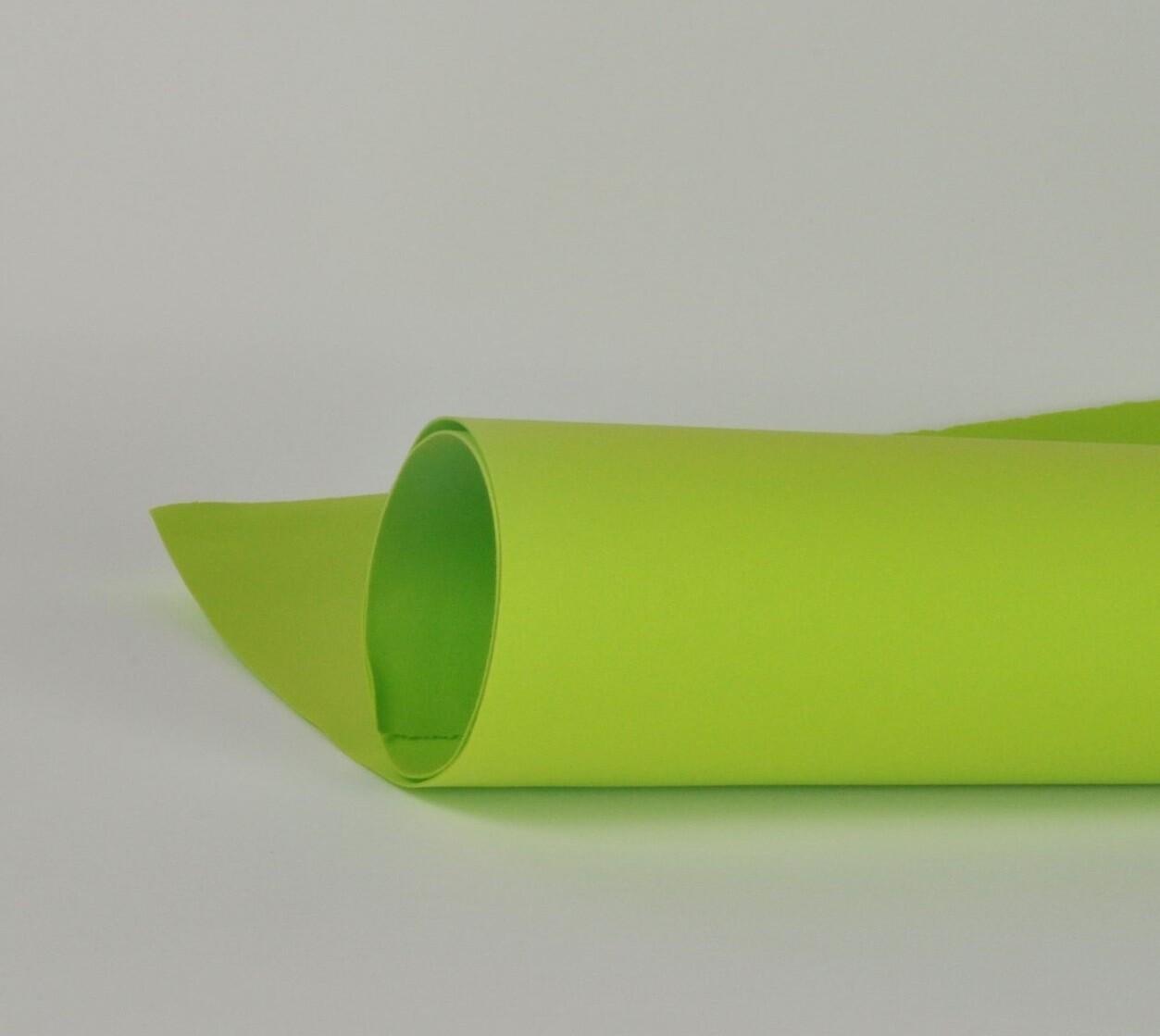 Фоамиран 1мм, Желто-зеленый, № 119 (60х70см)