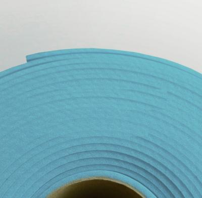 Изолон ППЭ 2 мм, ширина 75 см Цвет: Голубой (B547)