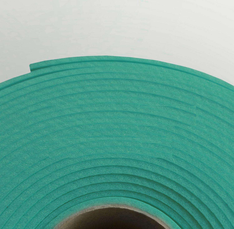 Изолон ППЭ 2 мм, ширина 75 см Цвет: Бирюзовый (B441)