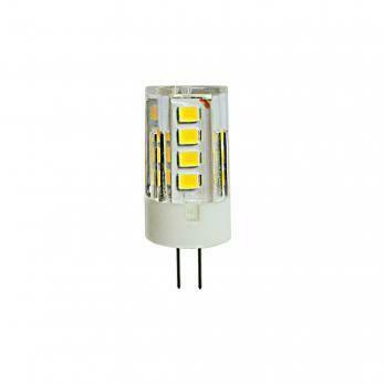 Лампа светодиодная (кукуруза) G4, 3Вт, 4000К, холодный белый свет, прозрачная