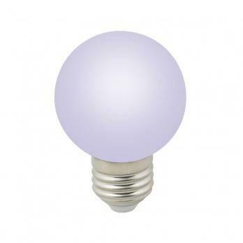 Лампа декоративная светодиодная LED E27, шар, матовая, 3Вт, RGB