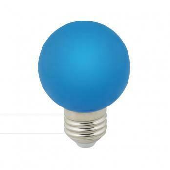 Лампа декоративная светодиодная LED E27, шар, матовая, 3Вт, синий