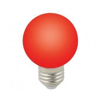 Лампа декоративная светодиодная LED E27, шар, матовая, 3Вт, красный