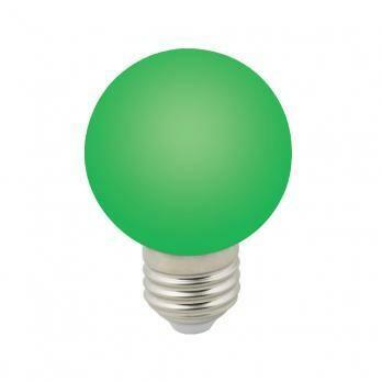 Лампа декоративная светодиодная LED E27, шар, матовая, 3Вт, зеленый