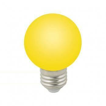 Лампа декоративная светодиодная LED E27, шар, матовая, 3Вт, желтый
