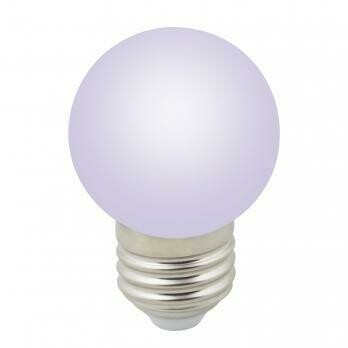 Лампа декоративная светодиодная LED E27, шар, матовая, 1Вт, RGB