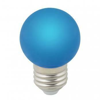 Лампа декоративная светодиодная LED E27, шар, матовая, 1Вт, синий
