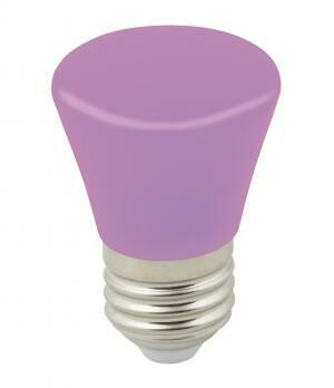 """Лампа декоративная светодиодная LED E27, """"колокольчик"""", матовая, 1Вт, фиолетовый"""