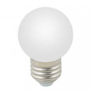 Лампа декоративная светодиодная LED E27, шар, матовая, 1Вт, дневной (6000К)